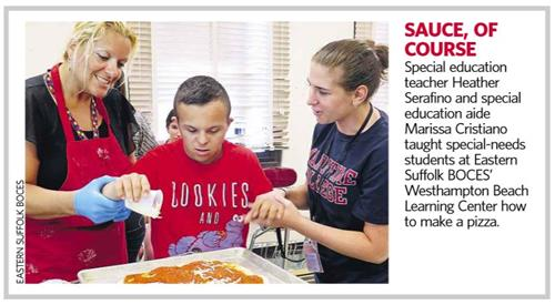 Newsday article on students making pizza