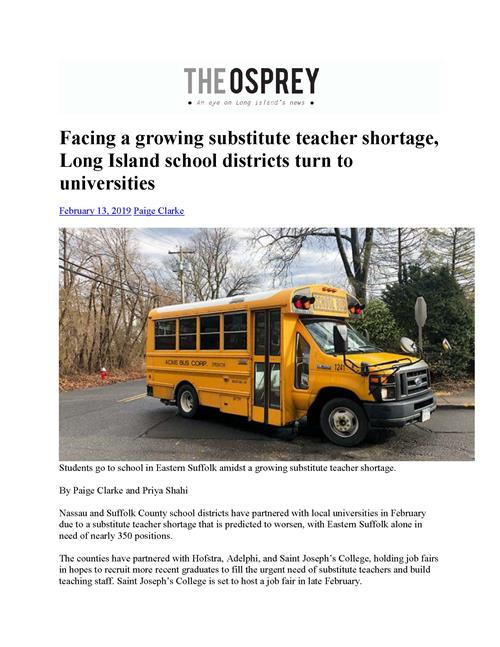 first page of the article with an image of a school bus