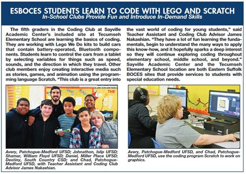 article with two images of students