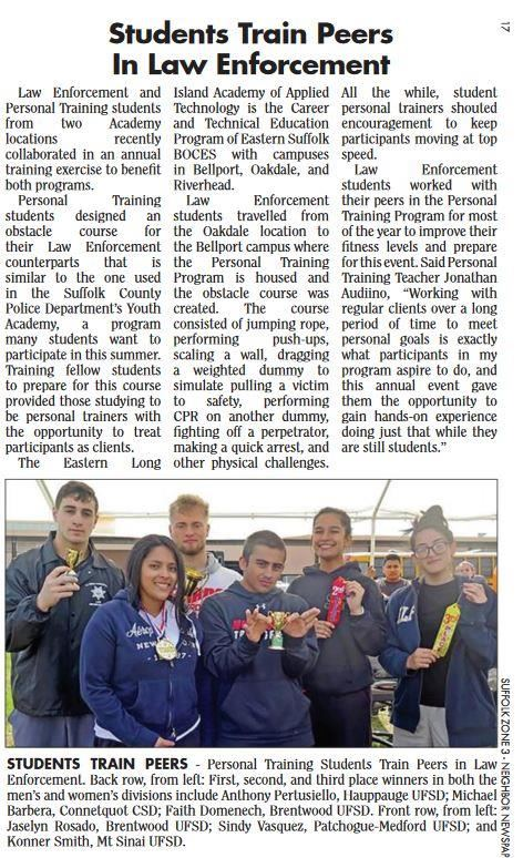 article with image of winners holding trophies