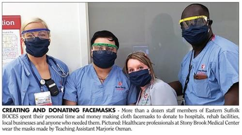 Medical professionals wearing facemasks
