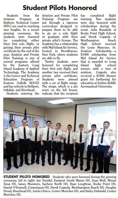 Student Pilots Honored