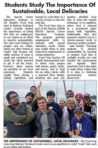 article with image of the class on the fishing boat
