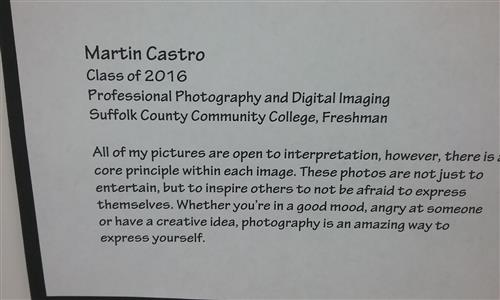 Martin Castro bio explains that photography is a way to express yourself.