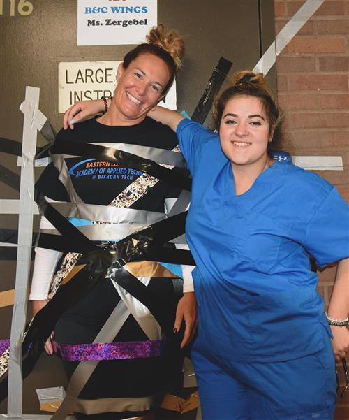 Students Use Duct Tape to Raise Money for Suicide Prevention