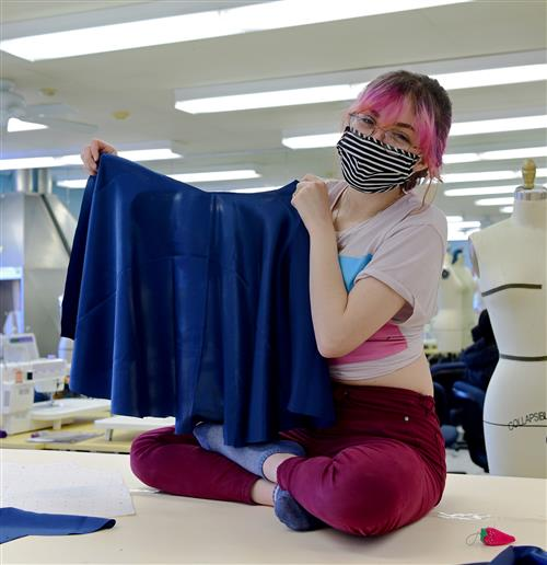 Fashion Students Design Flared Skirts