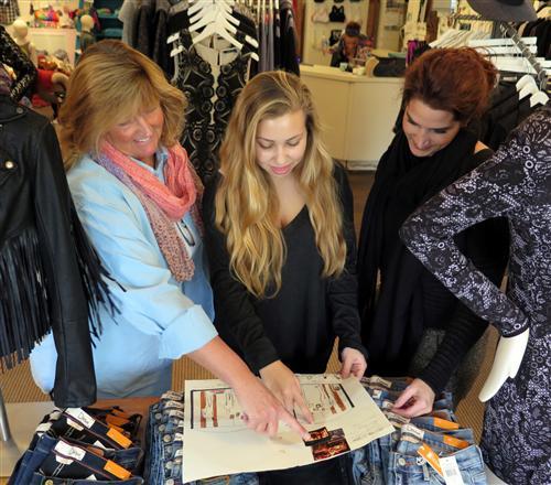 Fashion Merchandising Students Create Window Displays In Sayville