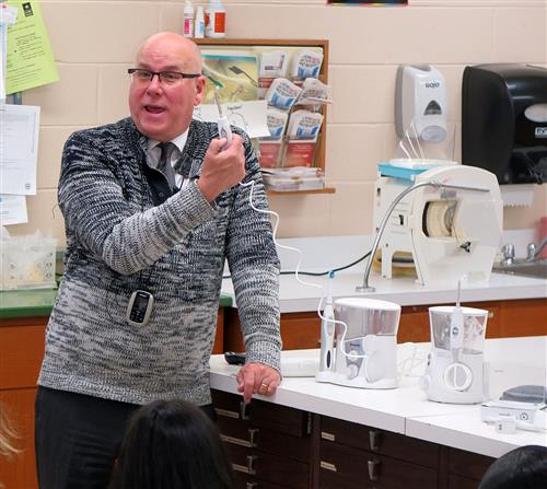 Dr. Hassler explains the benefits of using a water flosser, when used properly.