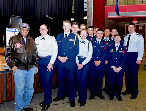 William Johnson with cadets