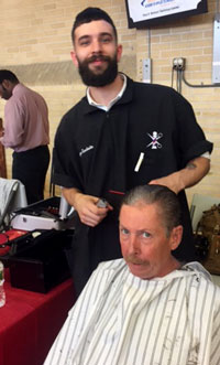 Barbering Students Provide Free Haircuts to Veterans