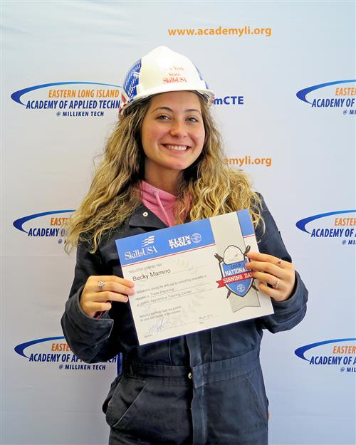 Meet Becky Marrero, LI Academy Female Trade Electrician Student
