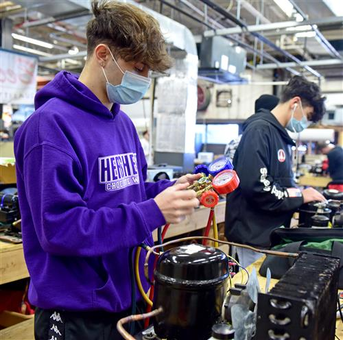 Academy HVAC Students Build Freezer Equipment