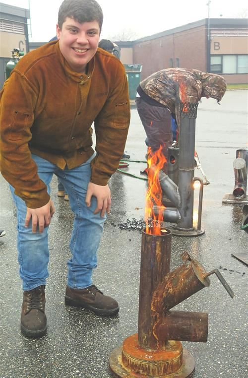 Academy Welding Students Fabricate Rocket Stoves