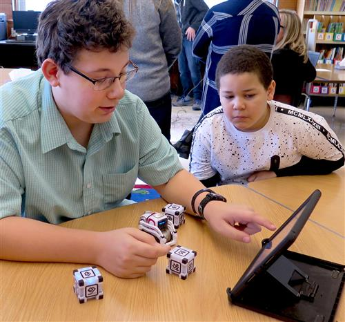 Elementary, High School Students Celebrate Hour of Code