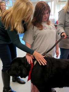 Therapy Dog Visits Class for First Time