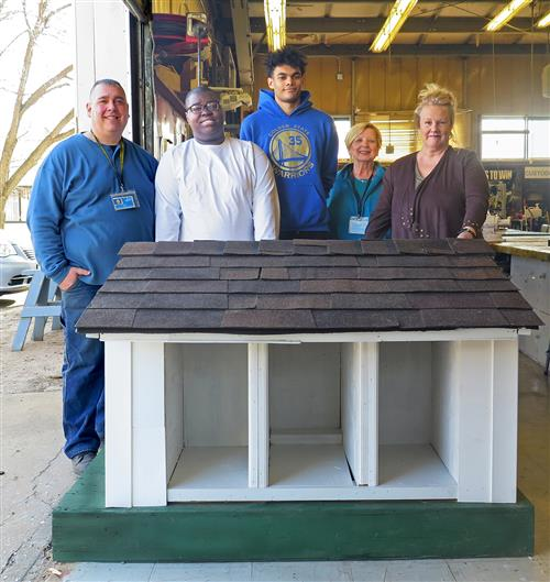 Special Career Education Students Build Cat Shelter