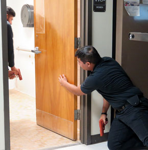 Law Enforcement Students Learn to Conduct Proper Room Searches