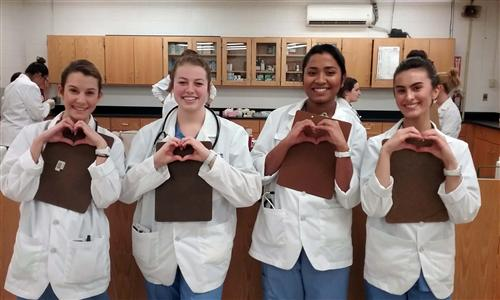 CMA give big heart signs for healthy heart clients.