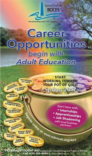 Adult Education 2017 Spring Course Catalog